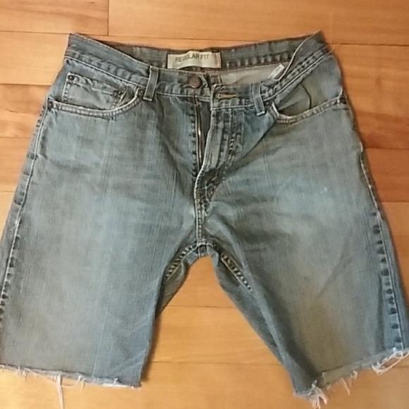 7af3fc5d Levi's Shorts | Mens Levis 505 Worn Denim Jean Cutoff 33 | Poshmark